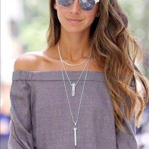 Stella & Dot silver popular Rebel necklace 💗
